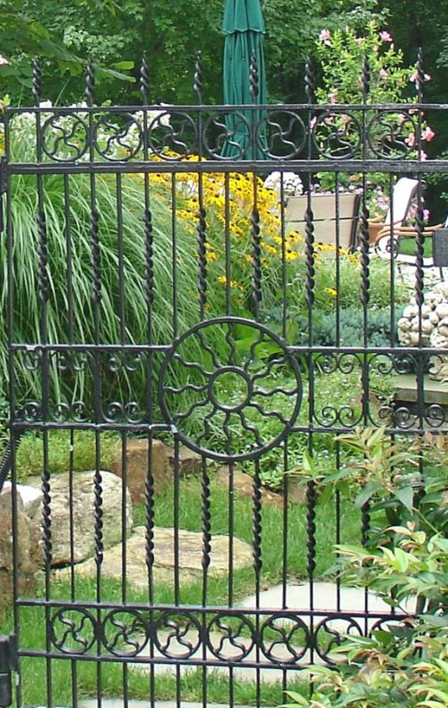 Fairfield landscape design garden gate