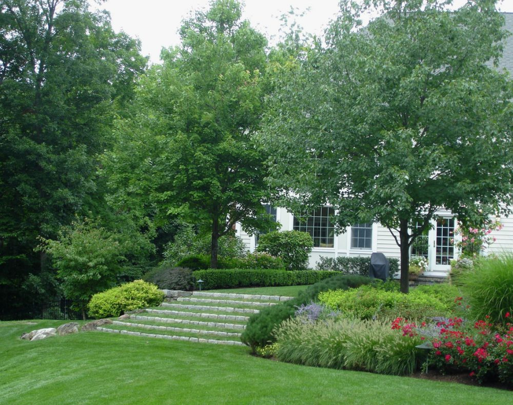 Fairfield landscape design lawn stairs