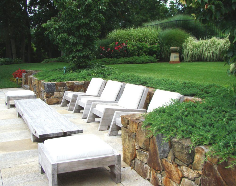 Westchester landscape design - pool deck