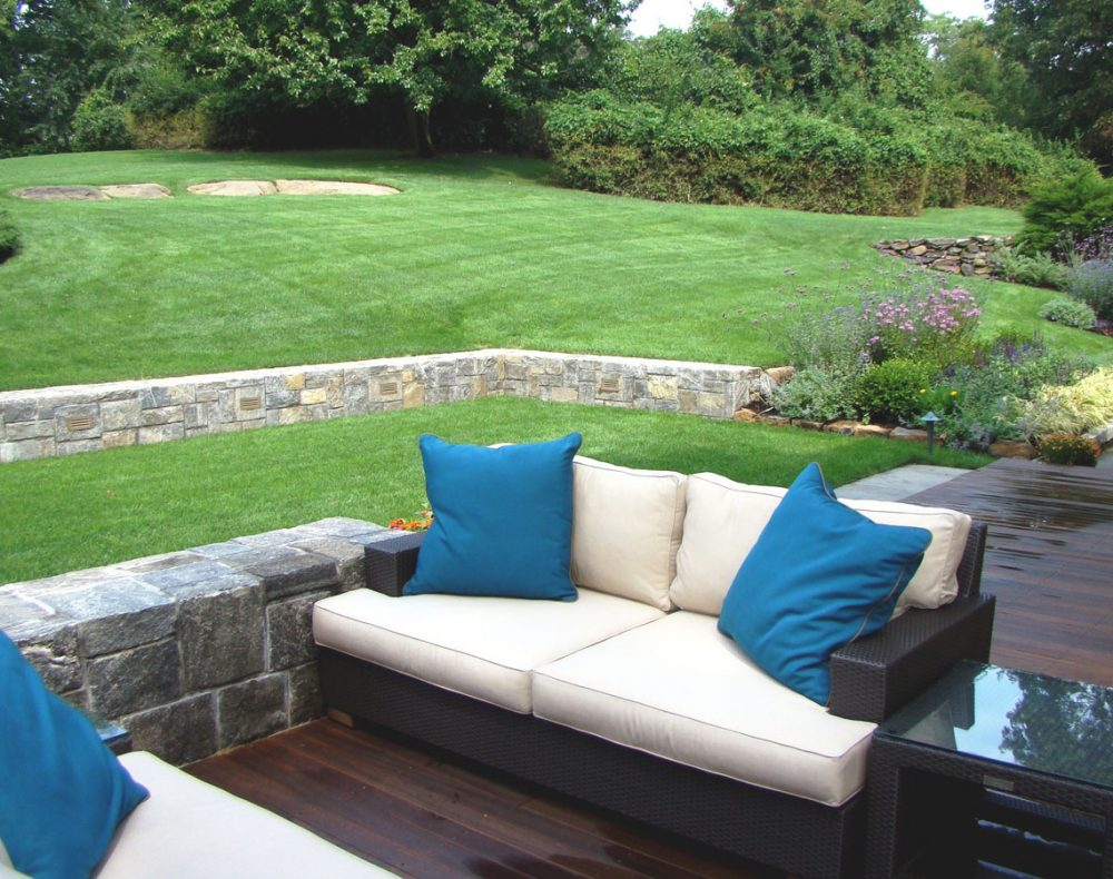 Westchester landscape design - outdoor seating