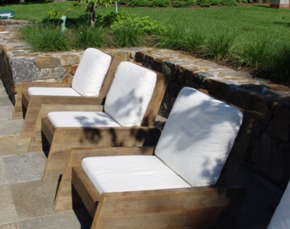 Westchester landscape design - pool seating