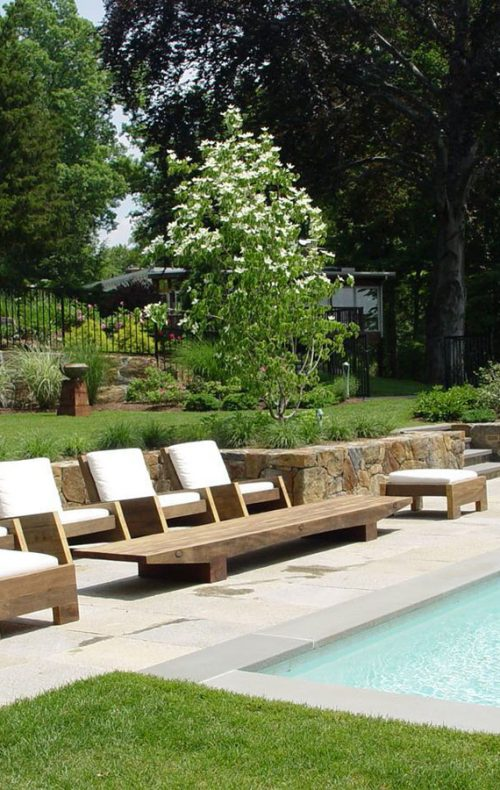 Westchester landscape design - pool and patio