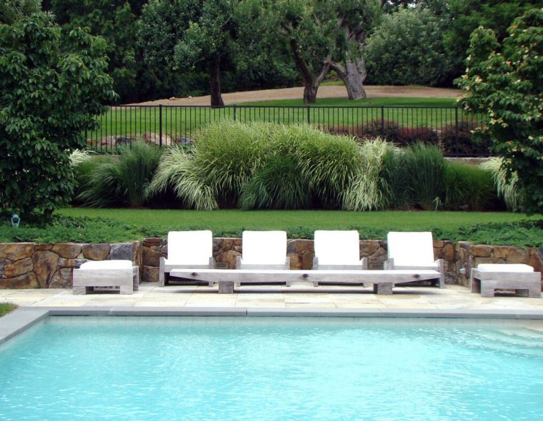 Grasses and swimming pool designed by Jan Johnsen