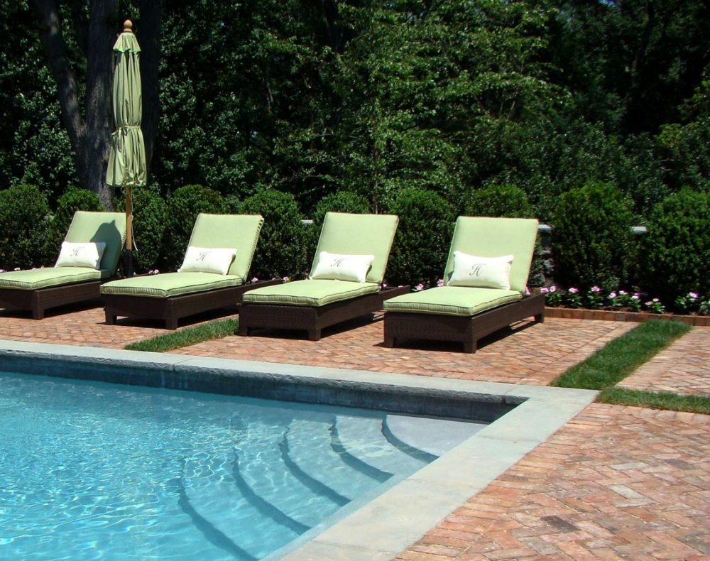 brick pool patio