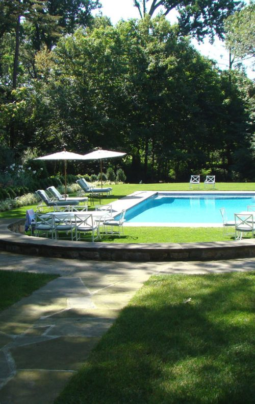 Sleepy Hollow garden and salt water pool