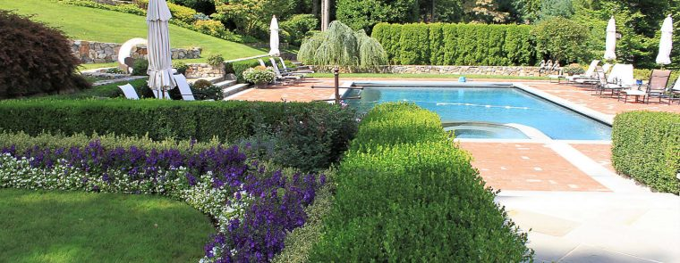 Westchester salt water pool and pool landscaping