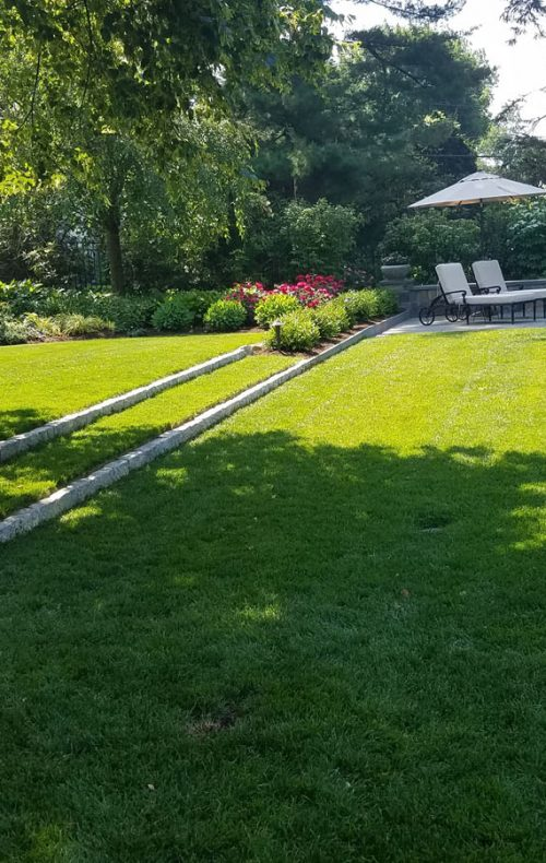 Pool and lawn in Westchester County, NY