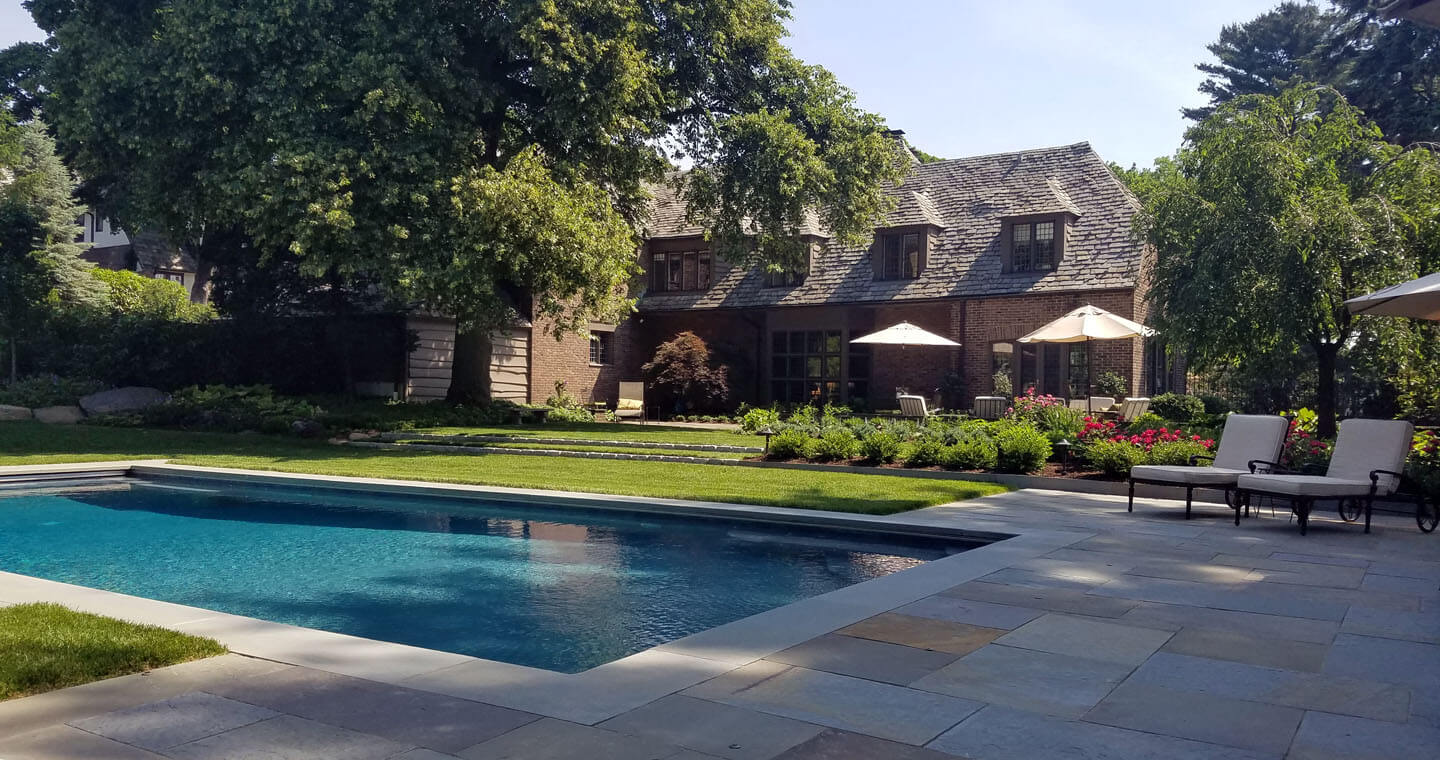 Bronxville pool, landscape, and garden design by Jan Johnsend
